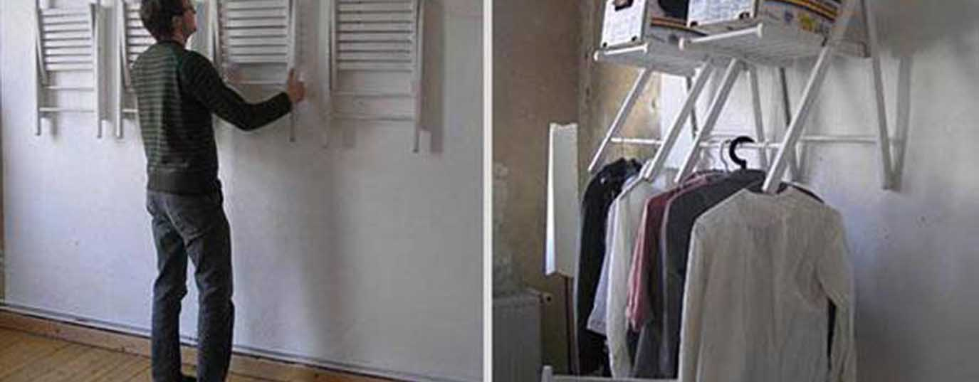 <p>A wardrobe made from chairs</p> <p> </p>
