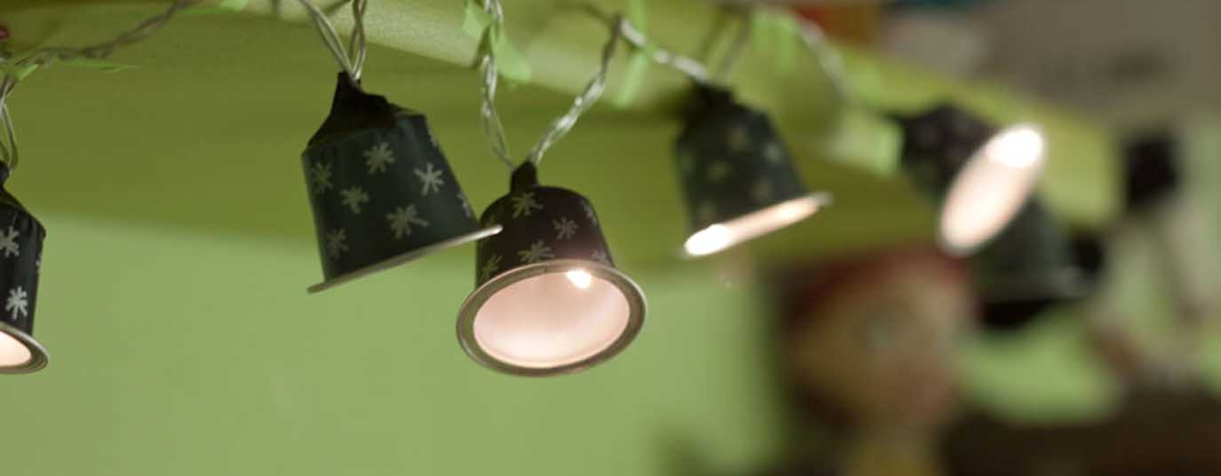 <p>Lighting screens with coffee capsules</p> <p> </p>