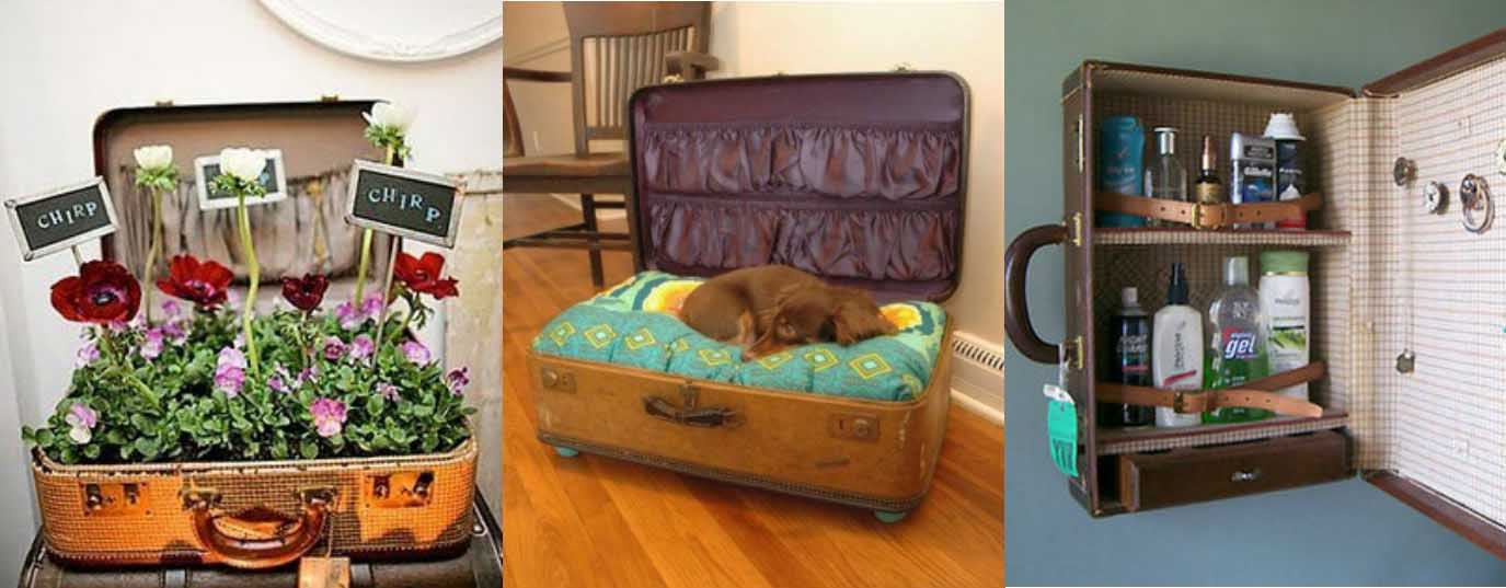 <p>Different uses for an old suitcase</p> <p> </p>