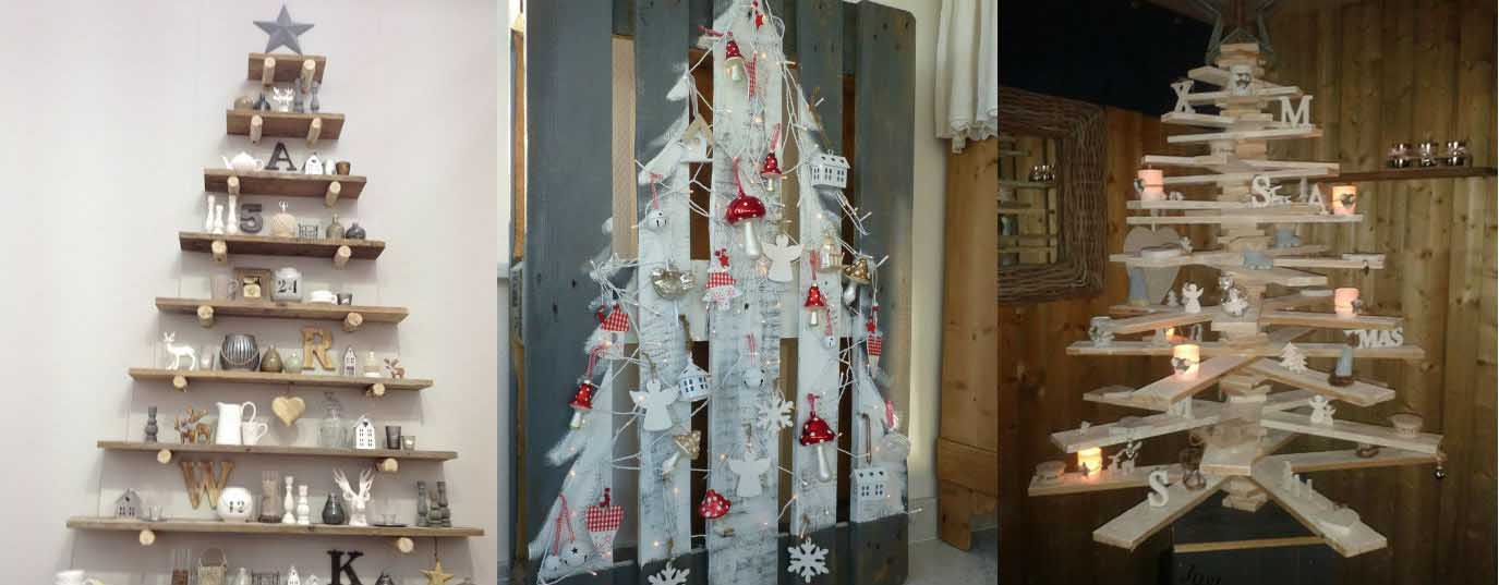<p>Christmas tree made with pallets</p>
