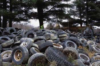 Una empresa sudafricana recoge y recicla neumáticos