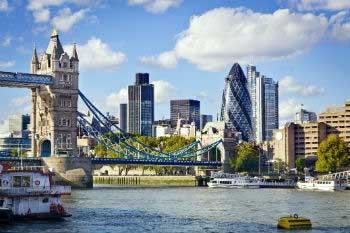 Londres, vista desde el Támesis