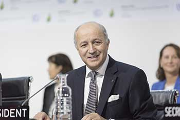 Laurent Fabius, Ministro Exterior Francia. UN Photo Mark Garten