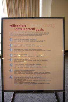 The past Millenium Goals, presentend in 2000