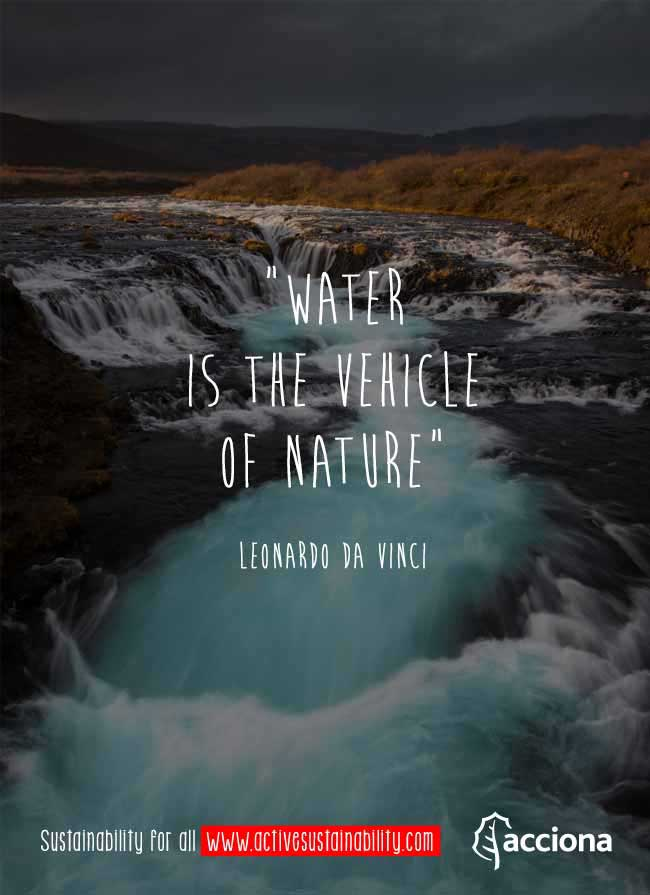 leonardo da vinci and water