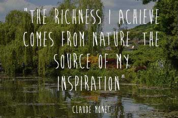 Monet and his source of inspiration
