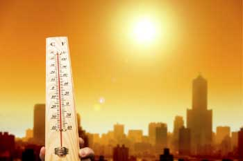 The greenhouse effect is causing temperature rise