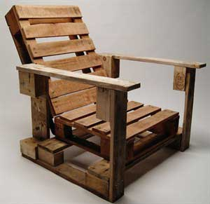 Pallet chair. Casasrestauradas.com