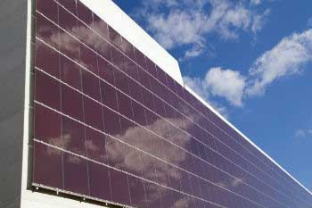 Solar panels on sustainable hotels