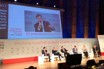 Jose Manuel Entrecanales debating at the Business and Climate Conference 2015