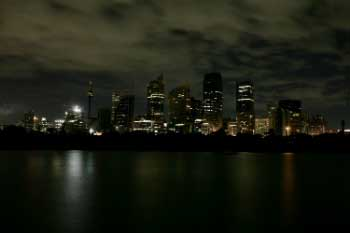 Sydney during Earth Hour 2008