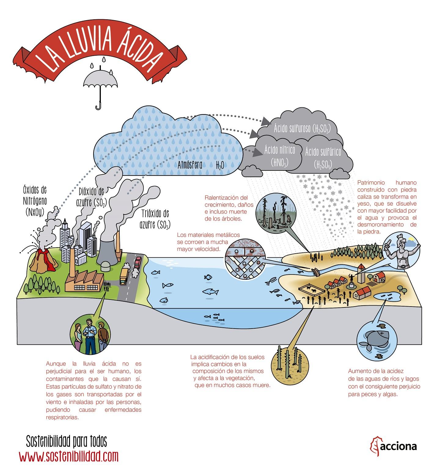 ¿Qué es la lluvia ácida? Sostenibilidad para todos