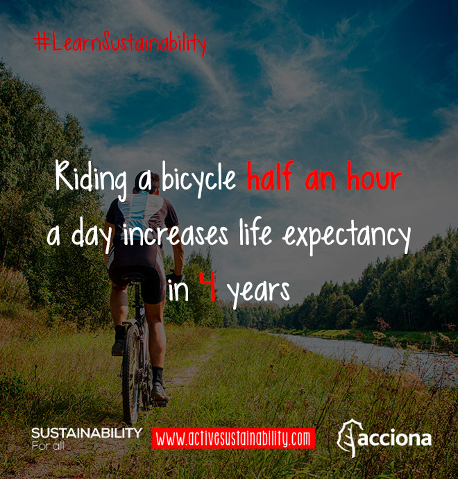 #LearnSustainability: Bike and life expectancy